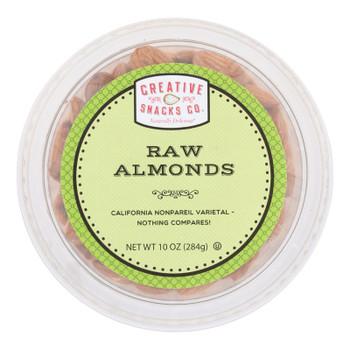Creative Snacks - Almonds Raw - Case Of 12 - 10 Oz