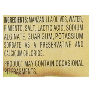 Reese Olives, Manzanilla Stuffed With Minced Pimientos On Table Server  - Case Of 12 - 3.25 Oz