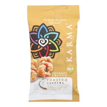 Karma Coconut Crunch Roasted Cashews  - Case Of 12 - 1.5 Oz
