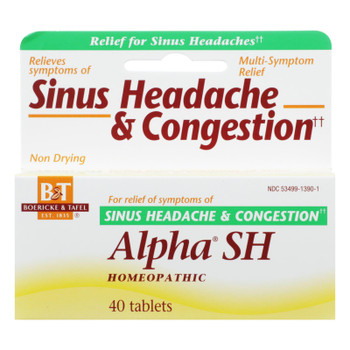 Boericke And Tafel - Alpha Sh Sinus Headache - 40 Tablets