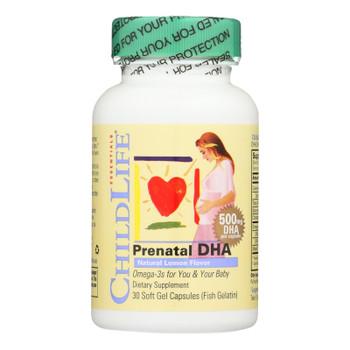 Childlife Prenatal Dha - 30 Softgels