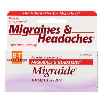 Boericke And Tafel - Migraide - 40 Tablets