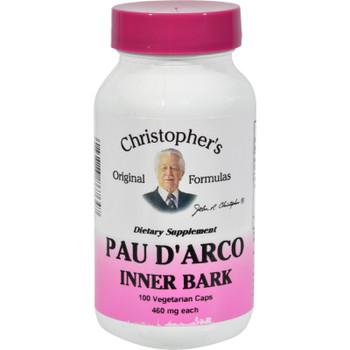 Dr. Christopher's Pau D'arco - 500 Mg - 100 Vegetarian Capsules