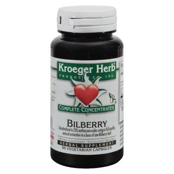Kroeger Herb Bilberry - 90 Vegetarian Capsules