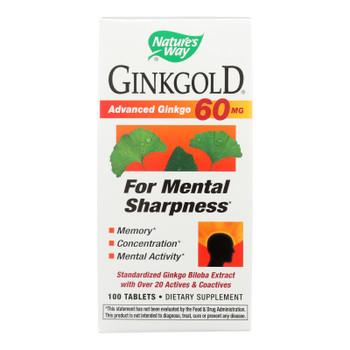 Nature's Way - Ginkgold 60 Mg - 100 Tablets