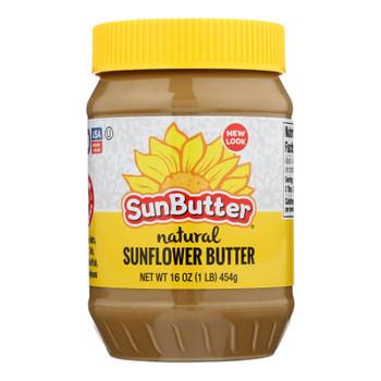 Sunbutter Sunflower Butter - Natural - Case Of 6 - 16 Oz.