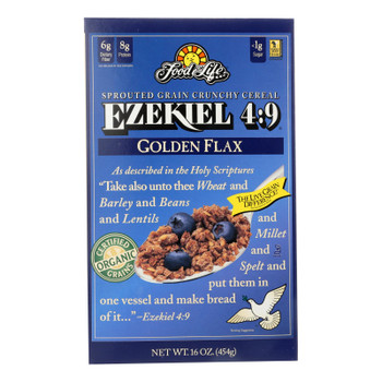 Food For Life Baking Co. Cereal - Organic - Ezekiel 4-9 - Sprouted Whole Grain - Golden Flax - 16 Oz - Case Of 6