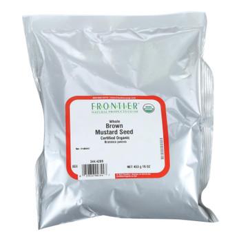 Frontier Herb Mustard Seed - Organic - Brown - Whole - Bulk - 1 Lb