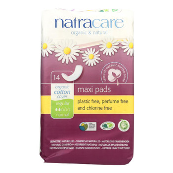 Natracare Natural Maxi Pads Regular - 14 Pack
