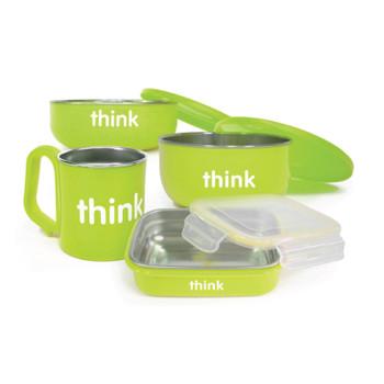 Thinkbaby  The Complete Bpa Free Feeding Set - Lt Green