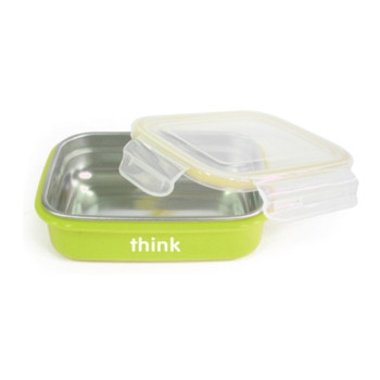 Thinkbaby  Bpa Free Bento Box - Lt Green