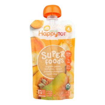 Happy Tot Toddler Food - Organic - Stage 4 - Pumpkin Sweet Potato And Pear - 4.22 Oz - Case Of 16