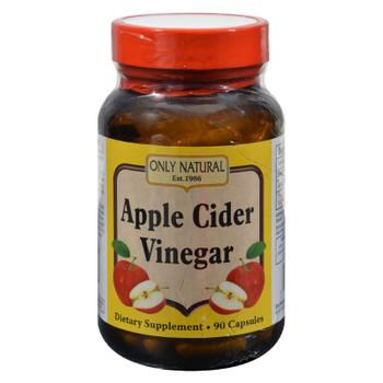 Only Natural Apple Cider Vinegar - 500 Mg - 90 Capsules