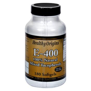 Healthy Origins E-400 - 400 Iu - 180 Softgels