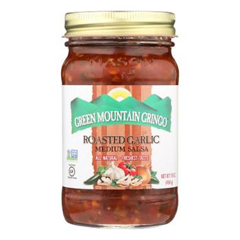 Green Mountain Gringo Medium Salsa - Garlic - Case Of 12 - 16 Oz.