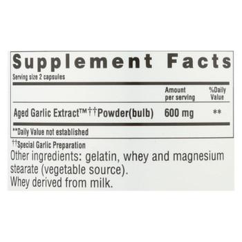 Kyolic - Aged Garlic Extract Cardiovascular Original Formula 100 - 300 Capsules