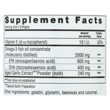 Kyolic - Aged Garlic Extract Epa Cardiovascular - 90 Softgels