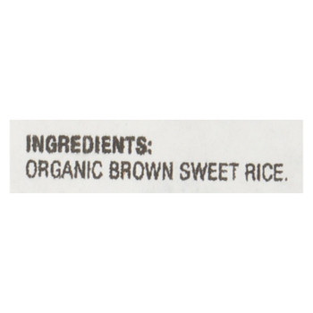 Lundberg Family Farms Organic Brown Sweet Rice - Case Of 25 Lbs