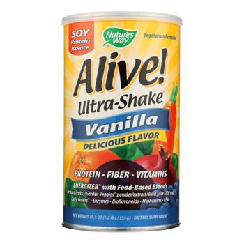 Nature's Way - Alive! Ultra-shake - Vanilla - 21 Oz.