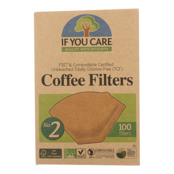If You Care Coffee Filters Lbs.2 Cone - Case Of 12 - 100 Count