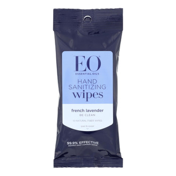 Eo Products - Hand Sanitizer Wipes Display Center - Lavender - Case Of 6 - 10 Pack