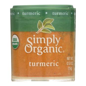 Simply Organic Turmeric Root - Organic - Ground - .53 Oz - Case Of 6