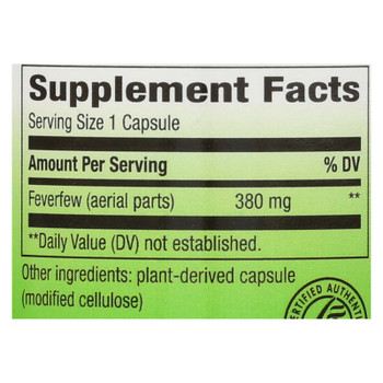 Nature's Way - Feverfew Leaves - 100 Capsules