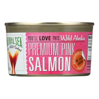 Natural Sea Wild Pink Salmon, Unsalted - Case Of 12 - 7.5 Oz