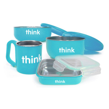 Thinkbaby  The Complete Bpa Free Feeding Set - Lt. Blue
