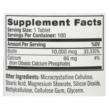 Natrol Biotin - 10000 Mcg - 100 Tablets