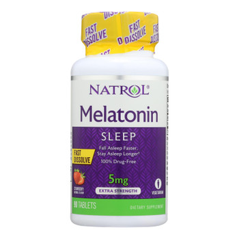 Natrol Melatonin Fast Dissolve Tablets Strawberry - 5 Mg - 90 Tablets