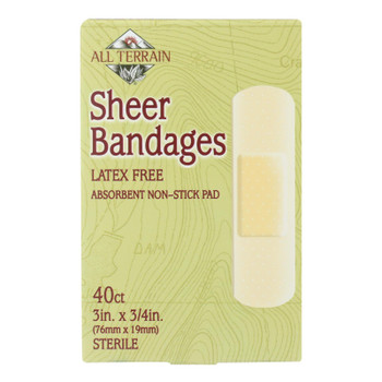 All Terrain - Bandages - Sheer - 3/4 In X 3 In - 40 Ct