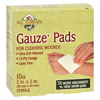 All Terrain - Gauze Pads Latex Free - 10 Pads