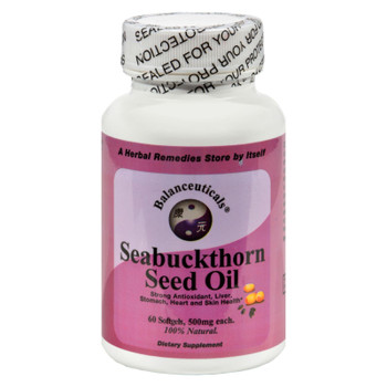 Balanceuticals Seabuckthorn Seed Oil - 500 Mg - 60 Softgels