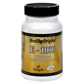 Healthy Origins E-1000 - 1000 Iu - 60 Softgels