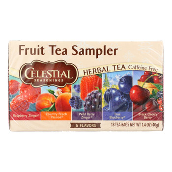 Celestial Seasonings Herbal Tea - Fruity Variety Pack - Case Of 6 - 18 Bag