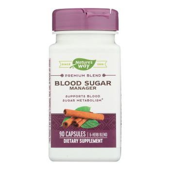 Nature's Way - Blood Sugar Metabolism Blend - With Cinnamon And Gymnema - 90 Veg Capsules