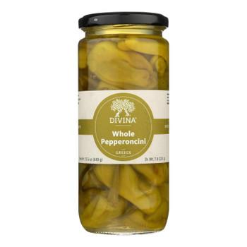 Divina - All Natural Pepperoncini - Case Of 6 - 7.75 Oz.