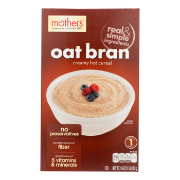 Mother's Creamy Hot Cereal - Oat Bran - Case Of 12 - 16 Oz.