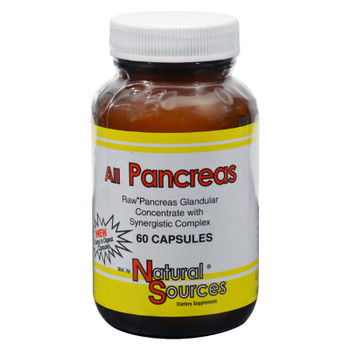 Natural Sources All Pancreas - 60 Capsules