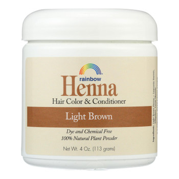 Rainbow Research Henna Hair Color And Conditioner Persian Light Brown - 4 Oz