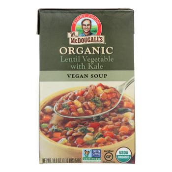 Dr. Mcdougall's Organic Lentil Vegetable Soup - Case Of 6 - 18 Oz.