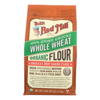 Bob's Red Mill - Organic Whole Wheat Flour - 5 Lb - Case Of 4