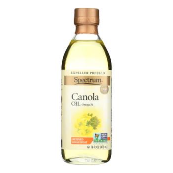 Spectrum Naturals Refined Canola Oil - Case Of 12 - 16 Fl Oz.
