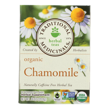 Traditional Medicinals Organic Chamomile Herbal Tea - 16 Tea Bags