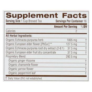Traditional Medicinals Organic Echinacea Elder Herbal Tea - 16 Tea Bags
