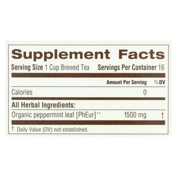 Traditional Medicinals Organic Peppermint Herbal Tea - 16 Tea Bags
