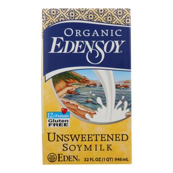 Eden Foods Organic Unsweetened Soymilk - Case Of 12 - 32 Fl Oz.