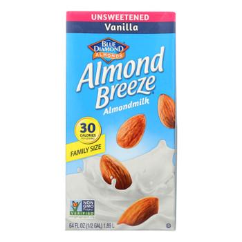 Almond Breeze - Almond Milk - Unsweetened Vanilla - Case Of 8 - 64 Fl Oz.