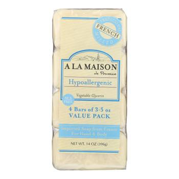 A La Maison - Bar Soap - Unscented Value Pack - 3.5 Oz Each / Pack Of 4